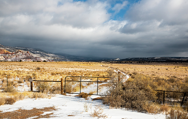 Ranch Road and Storm Clouds by Tom Cochran